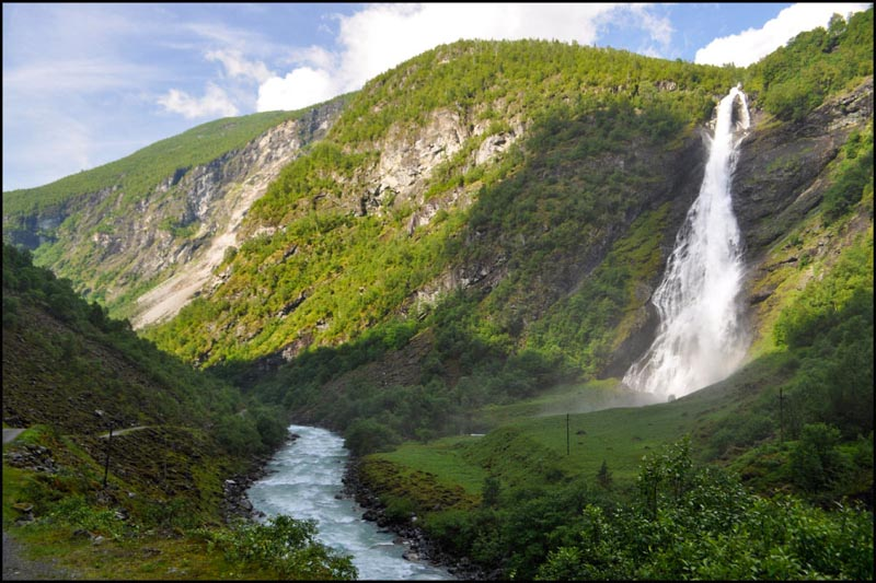 Норвегия водопад