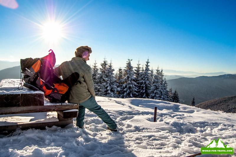 Лисновский массив - поход в горы зимой