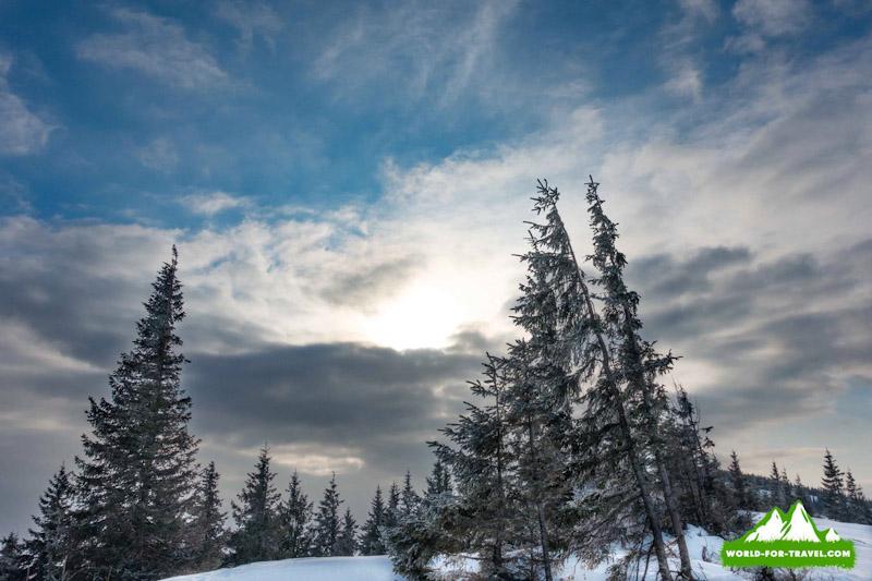 Зимний поход в горы на Кукул