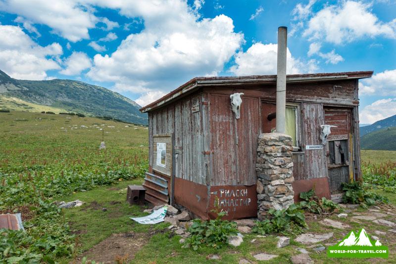 Болгарські горы колыба для туристов в горах