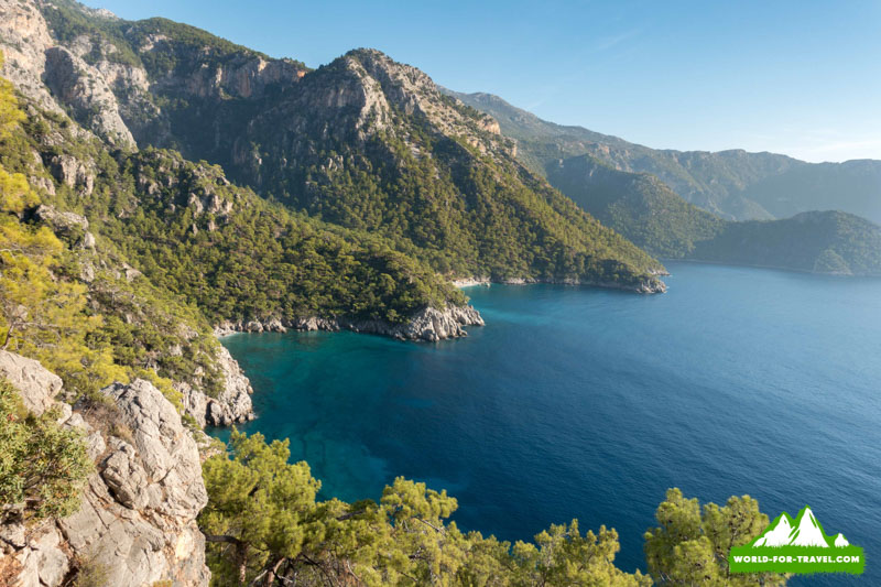 Ликийская тропа (Lycian Way) вид сверху