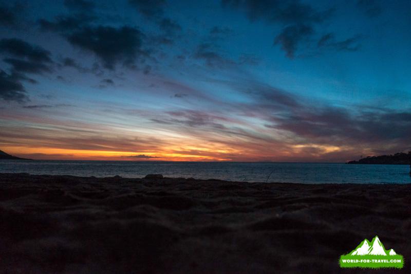 Ликийская тропа (Lycian Way) заход солнца на пляже