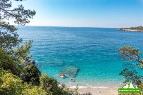 Ликийская тропа (Lycian Way) очень красивая лагуна