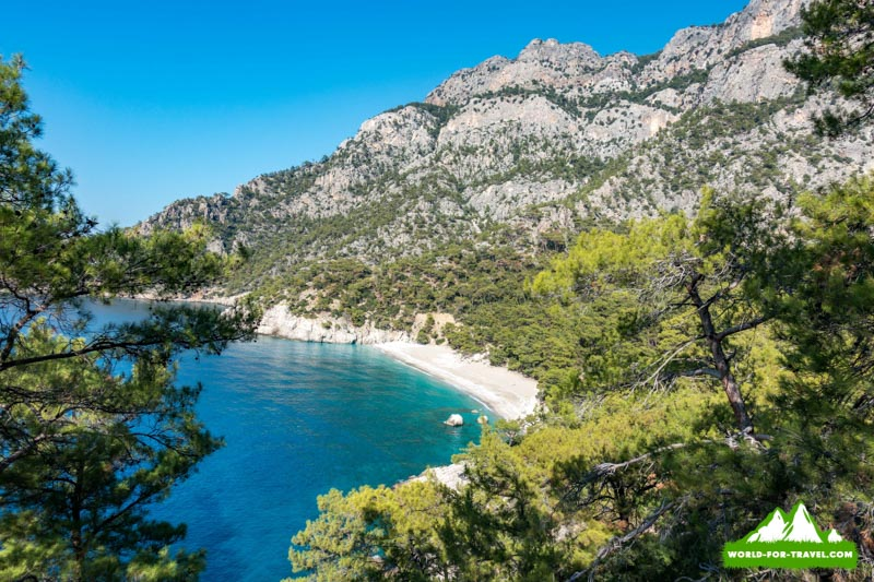 Ликийская тропа (Lycian Way) парадиз бич, дикий пляж