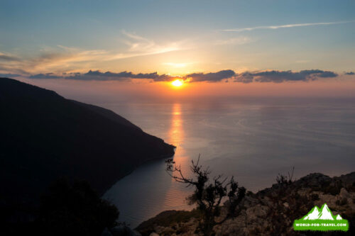 Ликийская тропа (Lycian Way) вид на море с тропы