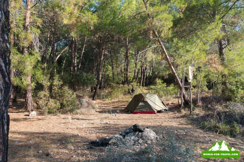 Ликийская тропа (Lycian Way) Гиваруили место ночлега