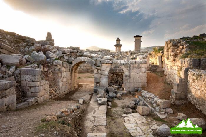 Ликийская тропа (Lycian Way) руины Ксанфос
