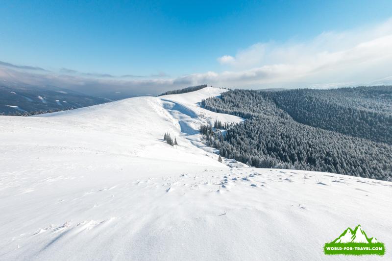 горный хребет Поход в горы на Буковель