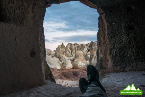 Каппадокия, Долины любви, вид из пещеры