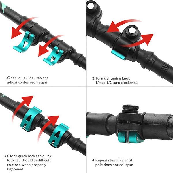 Карбоновые, трекинговые палки Hitorhike Carbon-