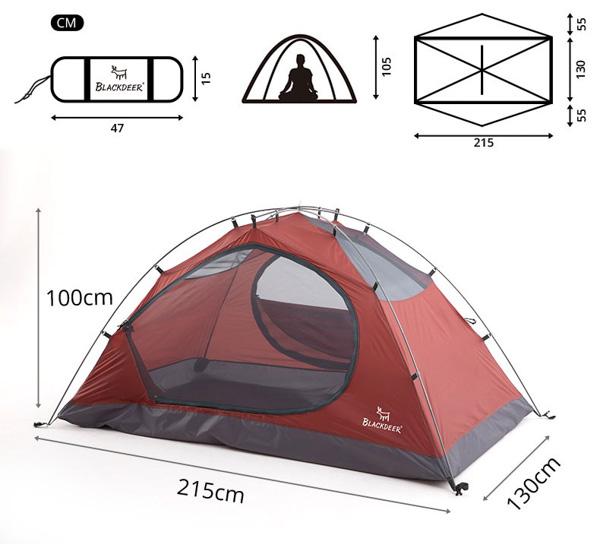 Палатка Black Deer Extreme 2P, 4 сезона